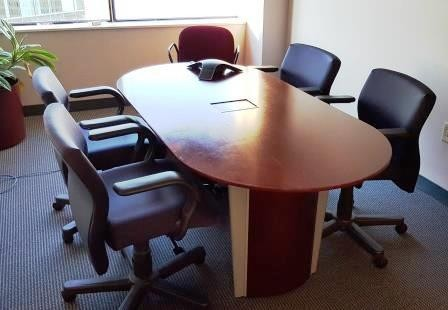 Racetrack Conference Table With Electronics