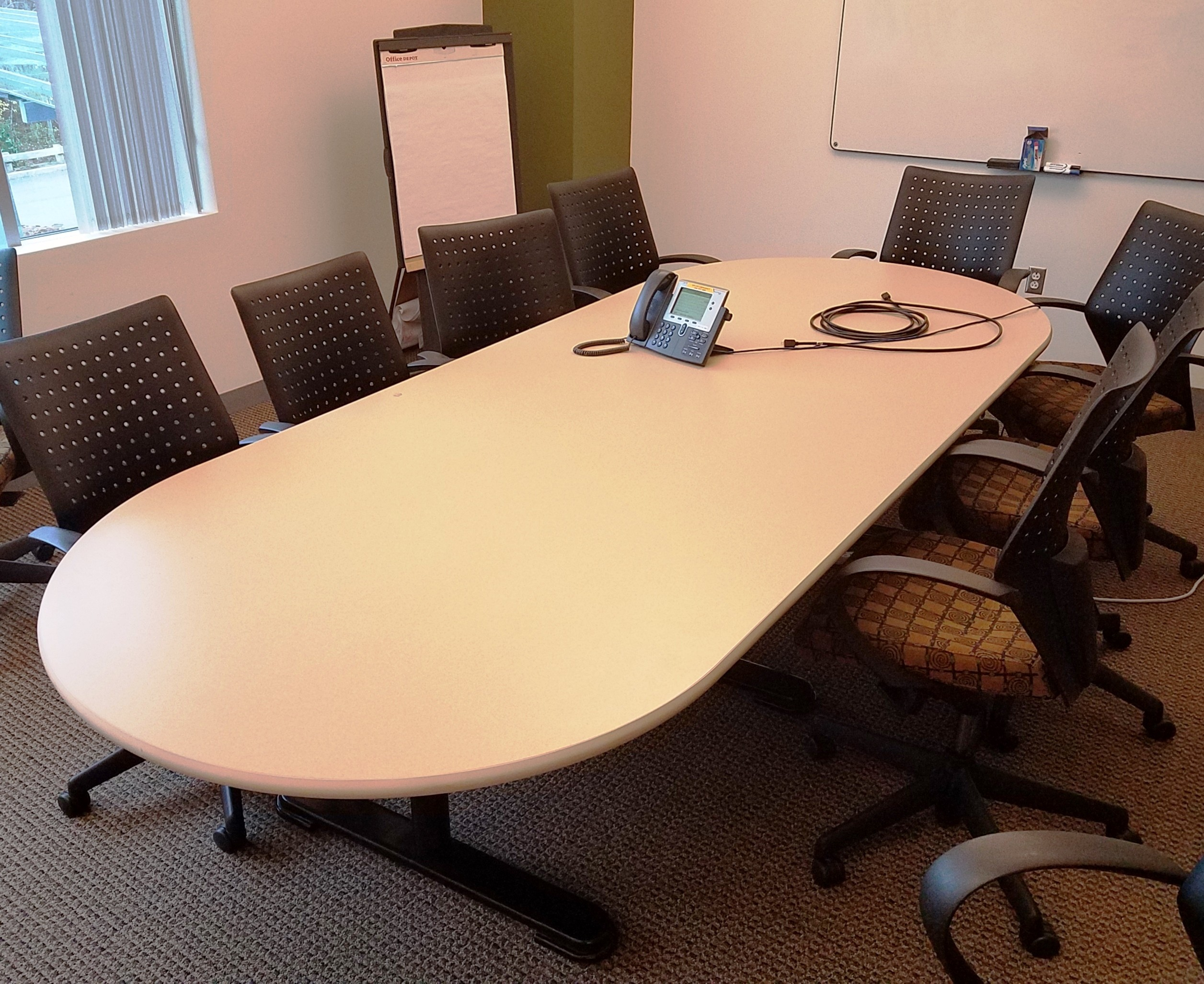 Vecta Laminate Racetrack Conference Table - 5 ft conference table