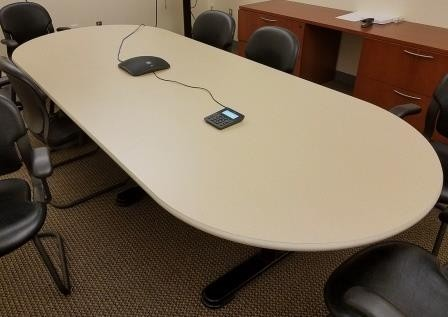 6' and 8' - Racetrack Laminated Conference Tables with Electronics