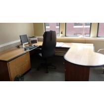 Contemporary U-Shaped Wooden Desk