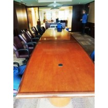 18' - Mahogany Conference Table with Electronics