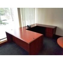 National - Wooden U-Shaped Desk