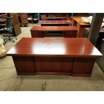 "36 x 72 - ""Deco"" Style Desk with Credenza"