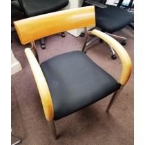 Steelcase - Birch & Walnut Guest Chairs